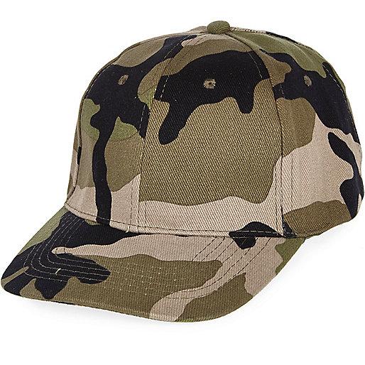 Casquette camouflage verte