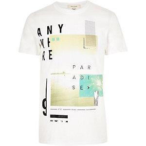 White metallic print t-shirt