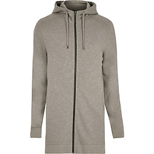 Ecru longline hoodie