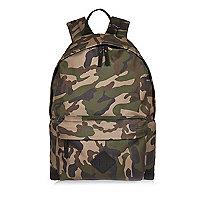 Green camo backpack