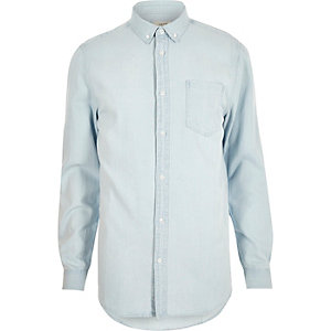 Bleached denim shirt