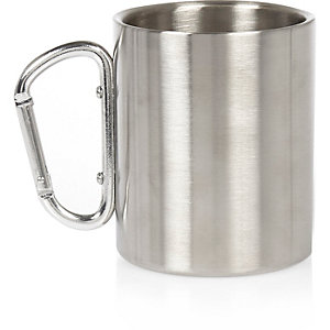Grey metallic mug