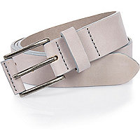 Nude nubuck leather belt
