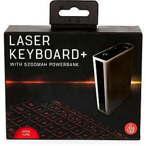 Black laser keyboard