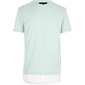 Mint longline mock shirt t-shirt