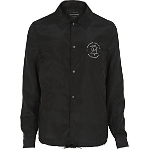 Black print coach jacket