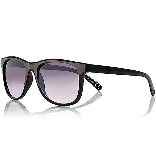 Black metallic retro sunglasses