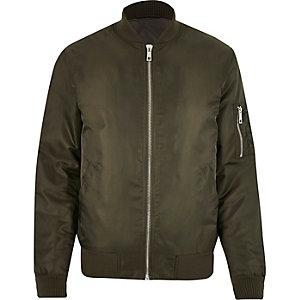 Dark green padded MA1 bomber jacket