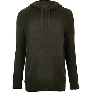 Dark green hooded jumper