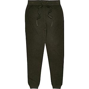 Pantalon de jogging vert foncé côtelé