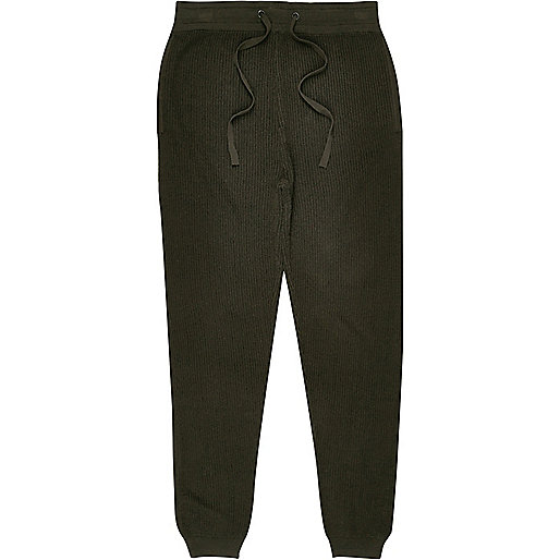Dark green ribbed jogger