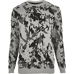 Grey camo jumper
