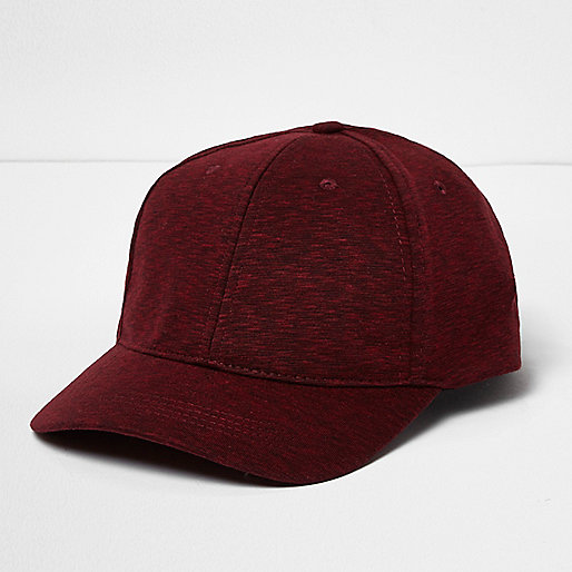 Dark red jersey cap