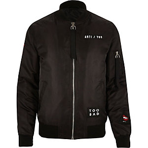 Black badge bomber jacket