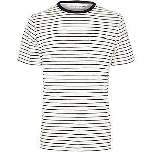 Ecru stripe t-shirt
