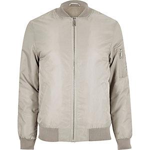 Stone padded MA1 bomber jacket
