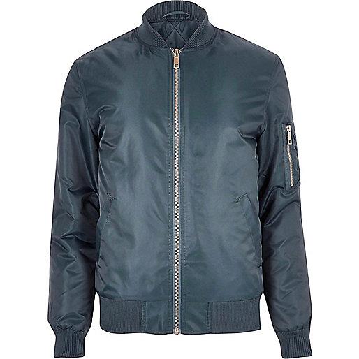 Blue padded MA1 bomber jacket