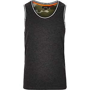 Grey camouflage panel tank