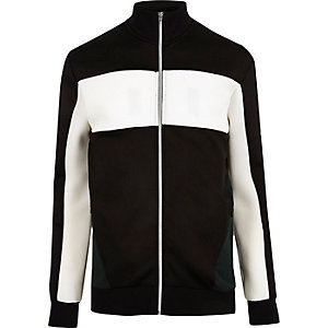 Black zip colour block jacket