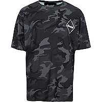 Black Granted camo T-shirt