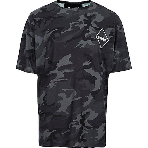 Black Granted camo T-shirt