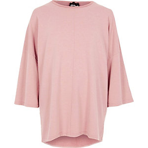 Pink Granted wide sleeve sweatshirt