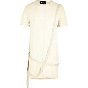 Ecru Granted longline strap T-shirt