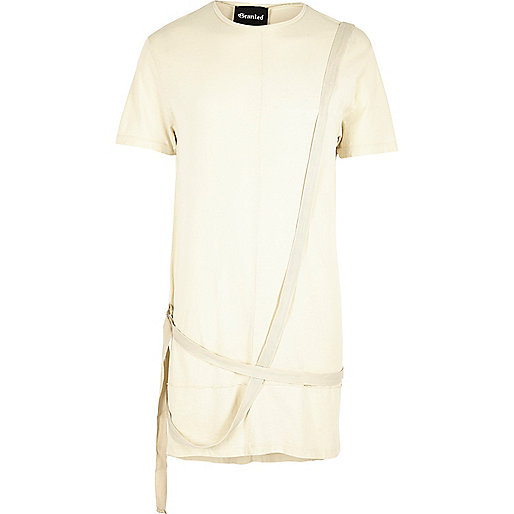 Ecru Granted longline strap T-shirt
