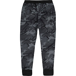 Black Granted camouflage print joggers