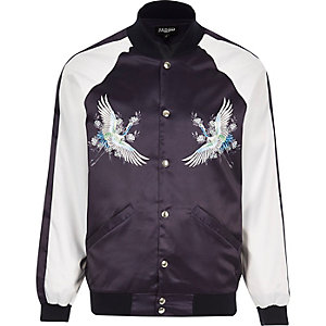 Purple Jaded London souvenir bomber jacket