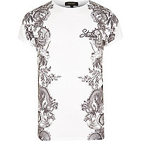White side print T-shirt