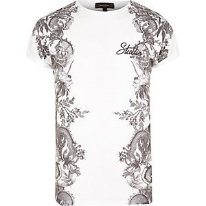 White side print t-shirt
