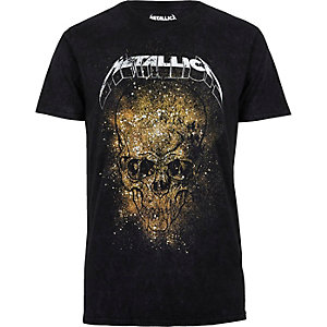 Black Metallica print T-shirt
