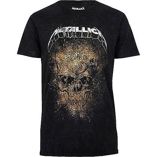 T-shirt noir imprimé Metallica