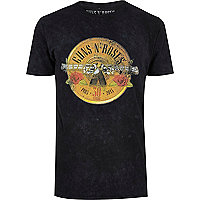 T-shirt noir imprimé  Guns N' Roses