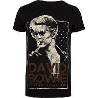 Schwarzes David-Bowie-T-Shirt