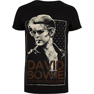 Black David Bowie band T-shirt