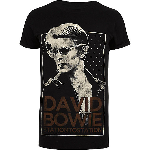 Black David Bowie band T-shirt