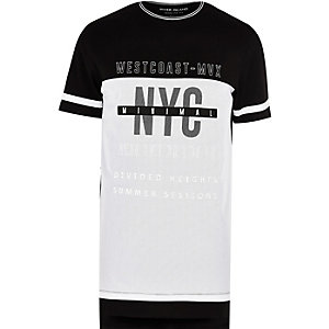 Black 'West Coast' longline T-shirt