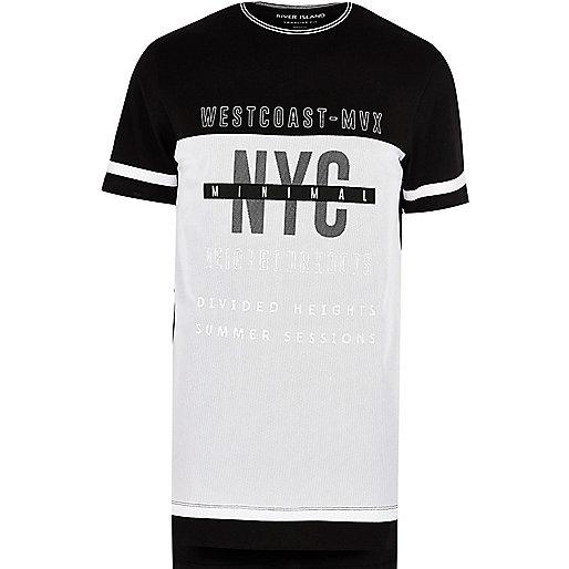 Black 'West Coast' longline T-shirt