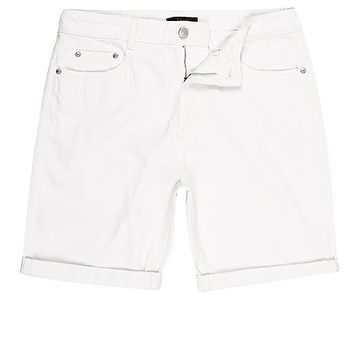 Short en jean ADPT blanc