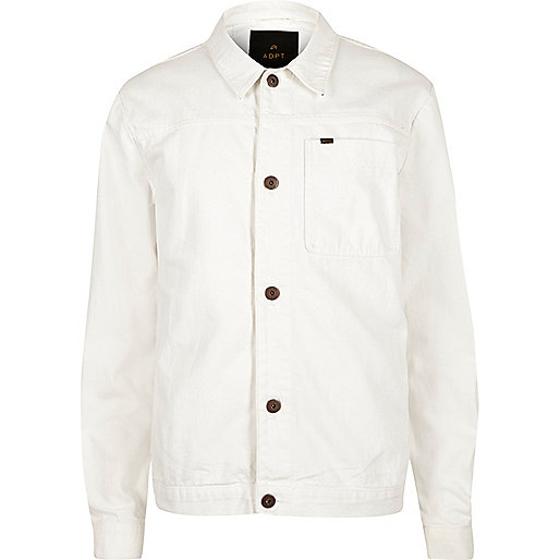 ADPT – Weiße Jeansjacke