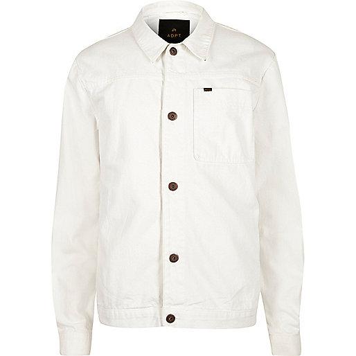 Veste en jean ADPT blanche