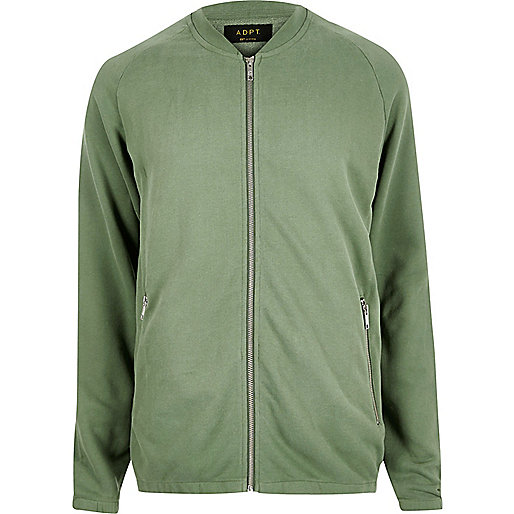 ADPT – Grüne Sweat-Strickjacke