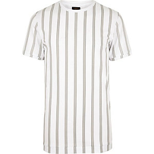 White ADPT vertical stripe T-shirt