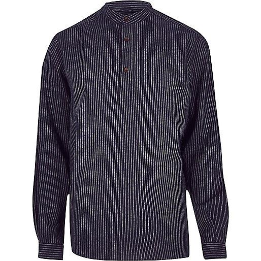 Navy ADPT grandad shirt