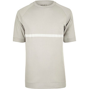 Stone ADPT white stripe T-shirt