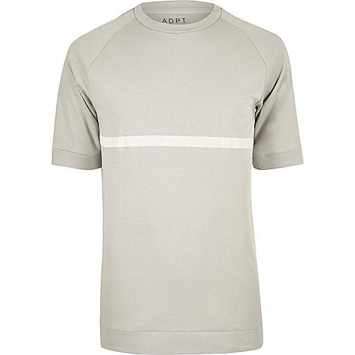 Stone ADPT white stripe T-shirt