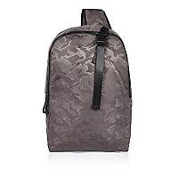 Grey camo hybrid backpack