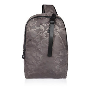 Grey camo hybrid backpack
